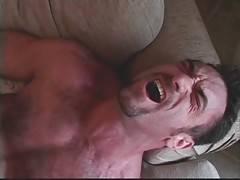 Horny muscled bear greatly enjoys deep anal massage.