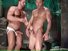 Eager toned dude loves to have his asshole deeply poked.