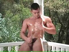 Hot Tough Stud Plays His Thick Cock 4