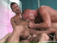 Craving dude rides stiff cock and gets his own sucked by tough guy.
