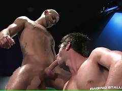 Toned Dudes Exchange Cock Sucking 2