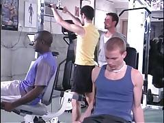 Take a look at these tough guys doing their work out in gym.